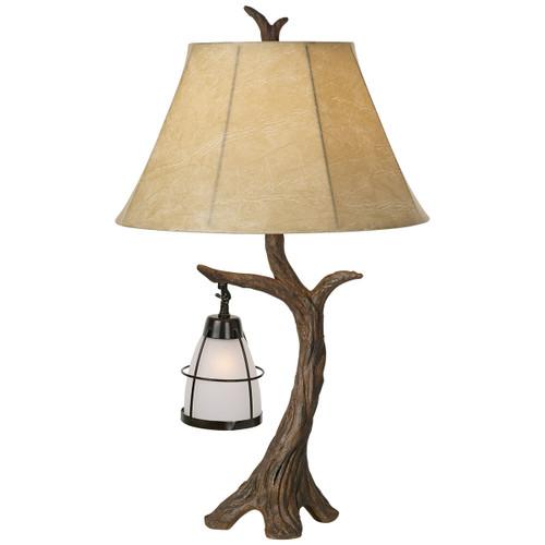 Driftwood & Lantern Table Lamp