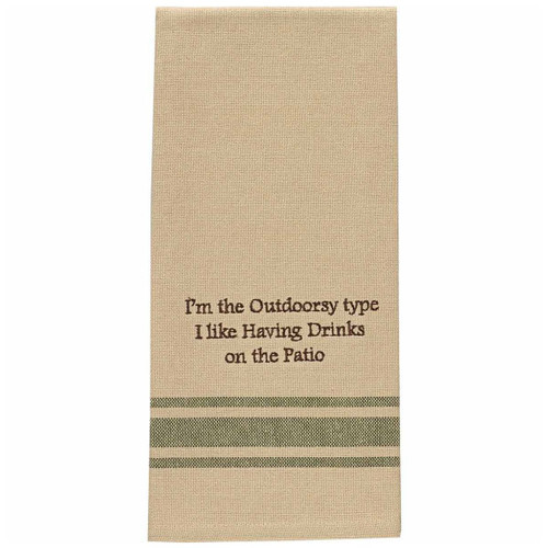 Drinks on the Patio Embroidered Dishtowels - Set of 6