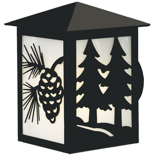 Dual Pines Large Indoor/Outdoor Wall Sconce - Black