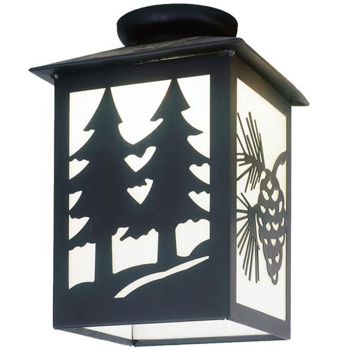 Dual Pines Large Porch Light - Black