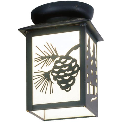 Dual Pines Small Porch Light - Black