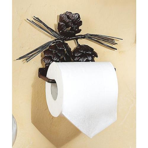 Metal Pinecone Toilet Paper Holder
