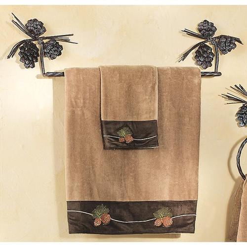 Metal Pinecone Towel Bar