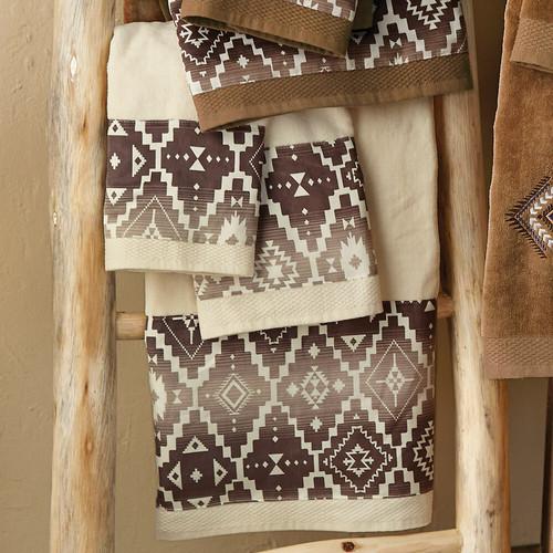 Durango Diamond Cream Towel Set