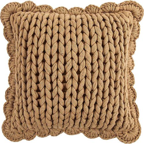 Camel Knit Pillow