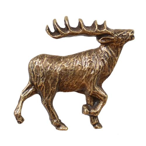 Elk Cabinet Knob - Right Facing