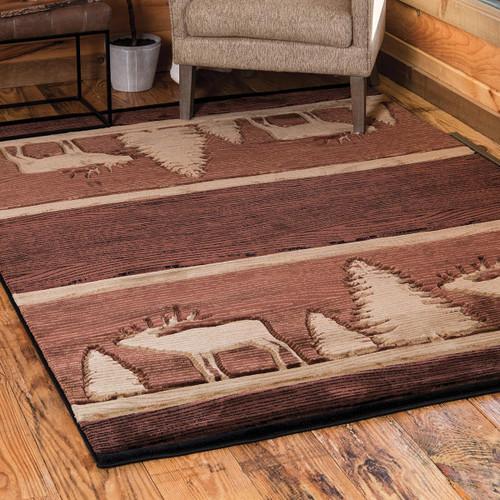 Elk Charred Wood Rug - 3 x 4