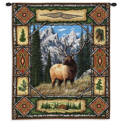 Elk Lodge Wall Tapestry