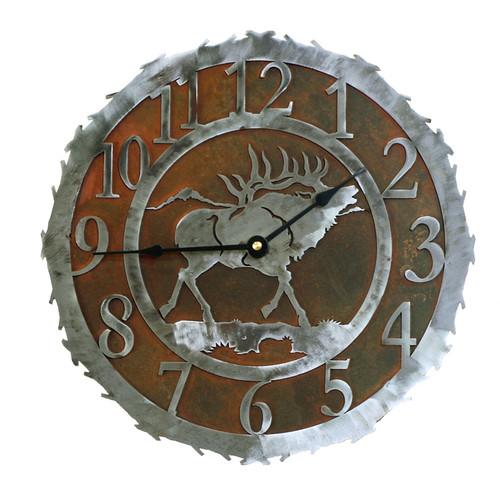 Elk Metal Art Clock - 12 Inch