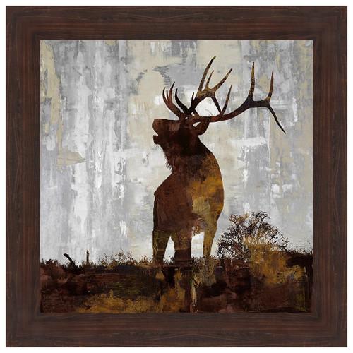 Elk Silhouette Framed Print
