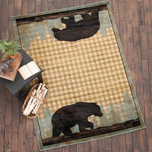 Twilight Black Bear Rug Collection
