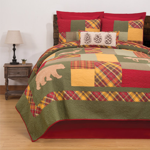 Enchanted Forest Plaid Quilt Set - King