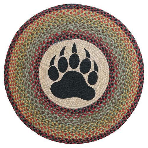 Round Bear Paw Rug