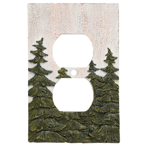 Evergreen Pine Tree Forest Outlet Cover