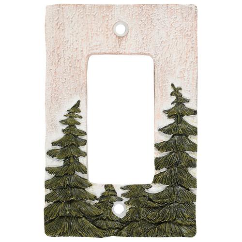 Evergreen Pine Tree Forest Rocker Plate