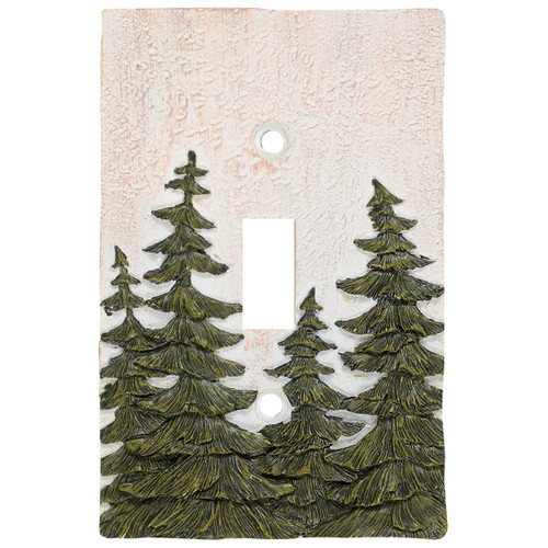 Evergreen Pine Tree Single Switch Cover