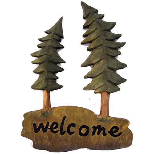Evergreen Welcome Wood Wall Art