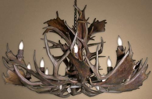 Real Fallow & Mule Deer Chandelier - Large