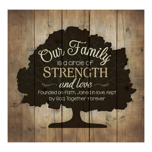 Family Circle Square Pallet Sign