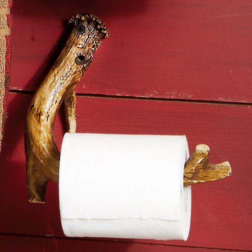 Faux Antler Toilet Paper Holder