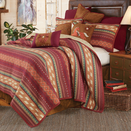 Fire Dance Reversible Quilt Bed Set - Twin