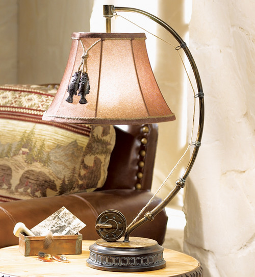 Fishing Reel Table Lamp - BACKORDERED UNTIL 8/27/2021