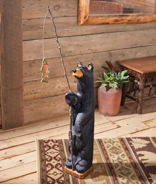 First Catch Black Bear Sculpture
