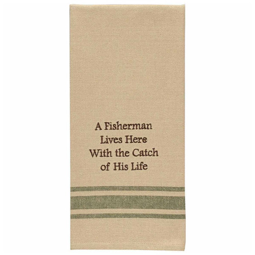 Fisherman's Catch Embroidered Dishtowels - Set of 6
