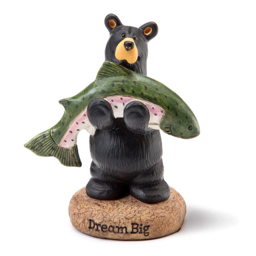 Fishing Bear Figurine