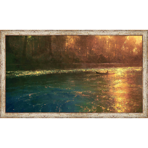 Fishing on the River Framed Wall Art