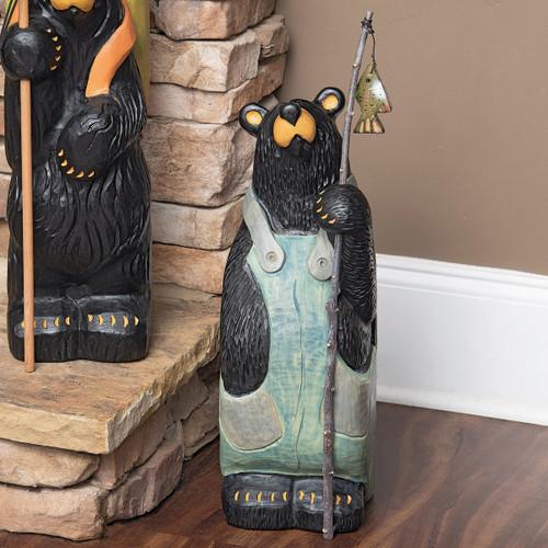 Fishing Time Bear Sculpture