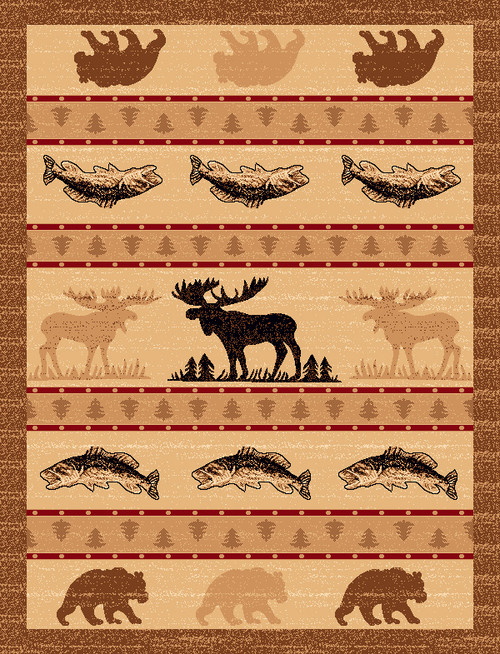 Wildlife Stripe Rug Collection