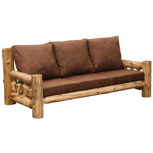 Cedar Log 7 Foot Sofa