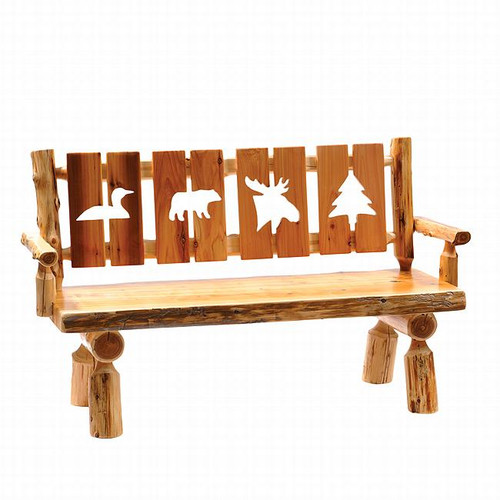 Cut-Out Log Bench - 60 Inch