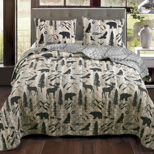 Winter Forest Quilt Bedding Collection