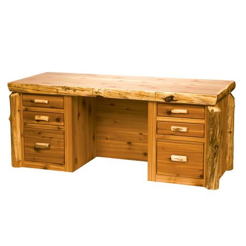 Cedar Log Standard Finish Executive Desk