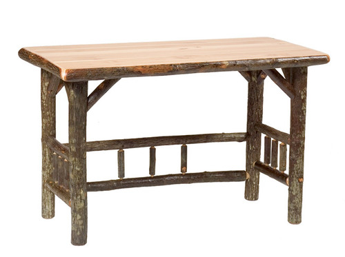 Hickory Traditional Log Open Writing Desk