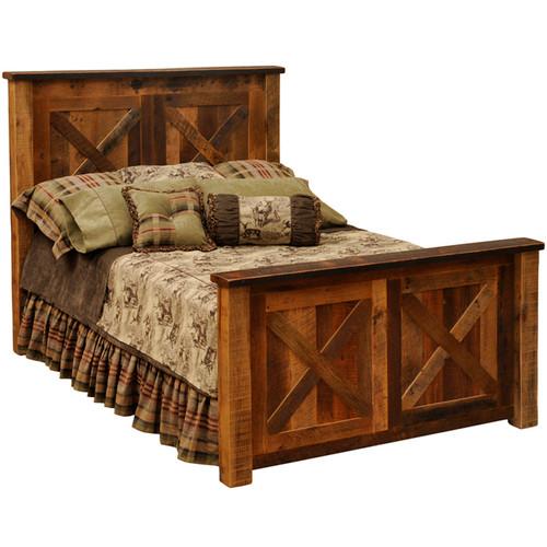 Barnwood Barndoor Bed - Twin