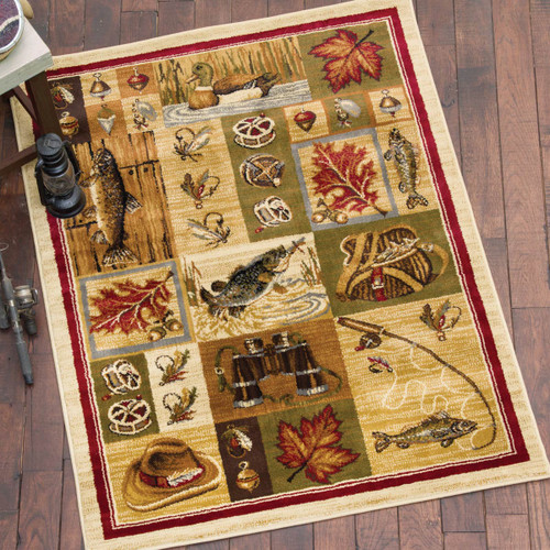 Fly Fishing Time Rug - 8 x 10
