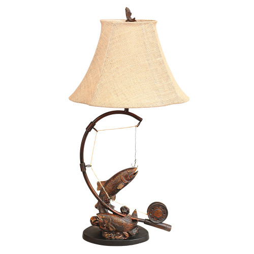 Fly Rod Trout Table Lamp - BACKORDERED UNTIL 11/19/2021