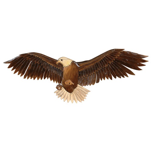 Flying Eagle Wood Carving Wall Art