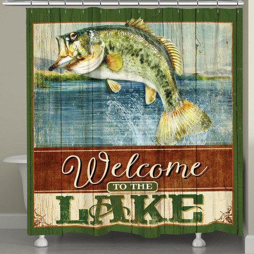 Flying Fish Shower Curtain