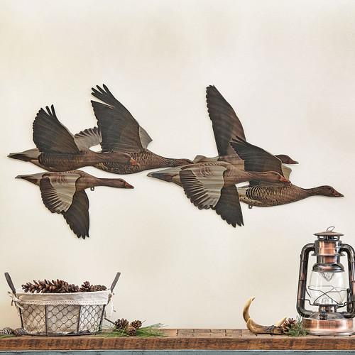 Flying Geese Metal Wall Art