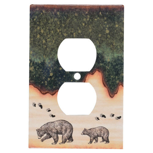 Forest Bear Outlet Cover