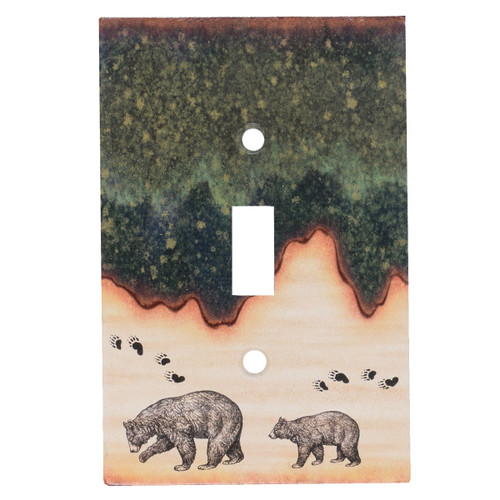 Forest Bear Single Switch Cover