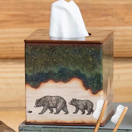 Forest Bear Tissue Box