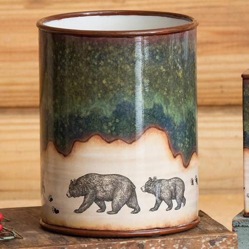 Forest Bear Waste Basket