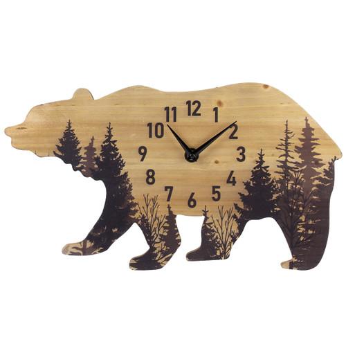 Forest Bear Wood Wall Clock