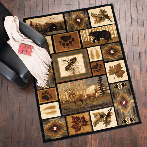 Forest Collage Rug - 2 x 3