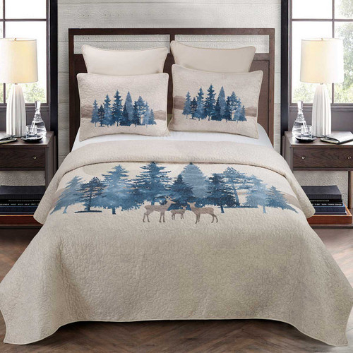 Forest Frost Quilt Set - King